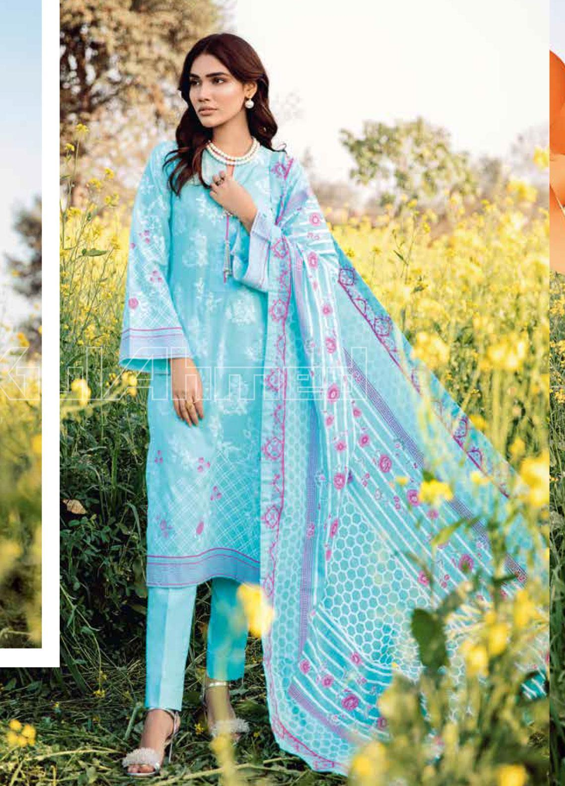 Gul Ahmed Printed Lawn Unstitched 3 Piece Suit GA20SBL CL 807 A - Summer Collection