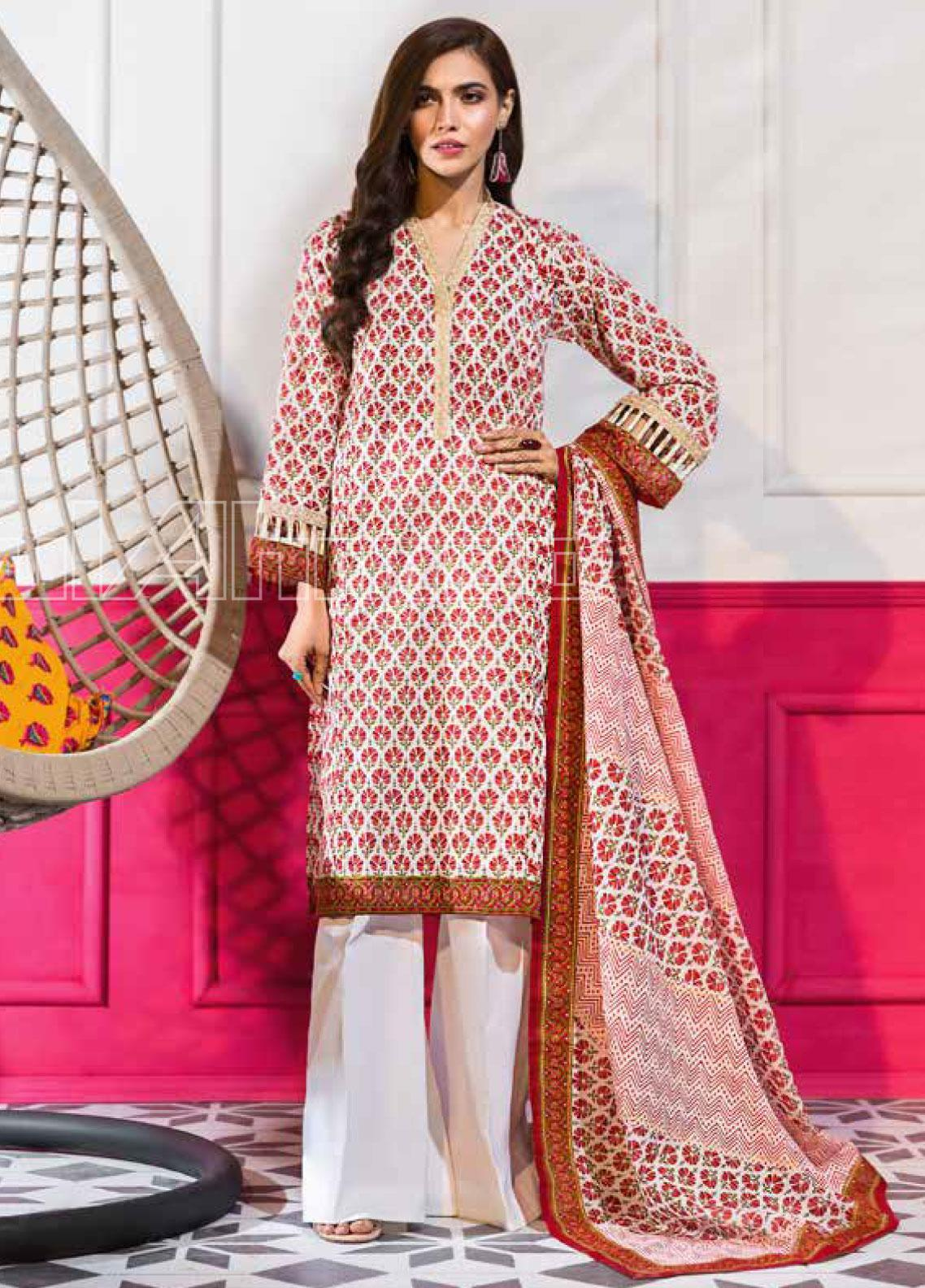Gul Ahmed Embroidered Lawn Unstitched 3 Piece Suit GA20SBL CL 827 A - Summer Collection