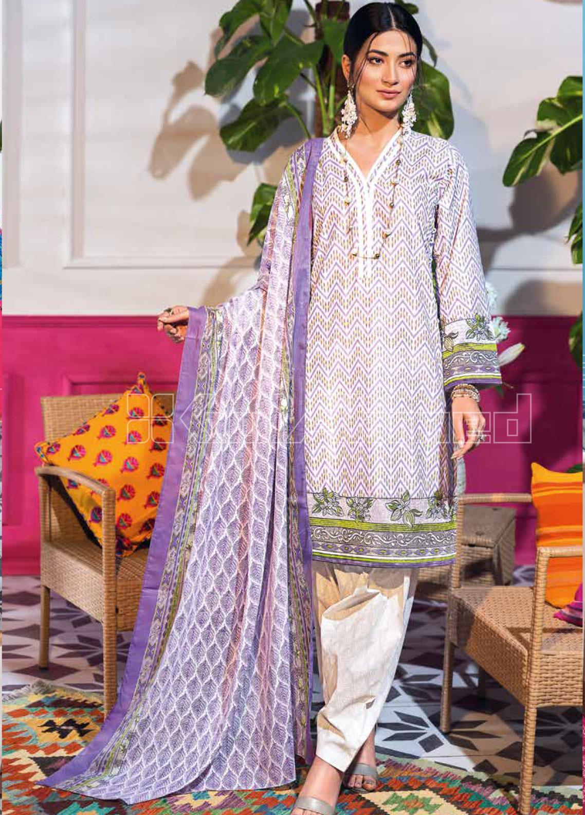 Gul Ahmed Embroidered Lawn Unstitched 3 Piece Suit GA20SBL CL 840 A - Summer Collection