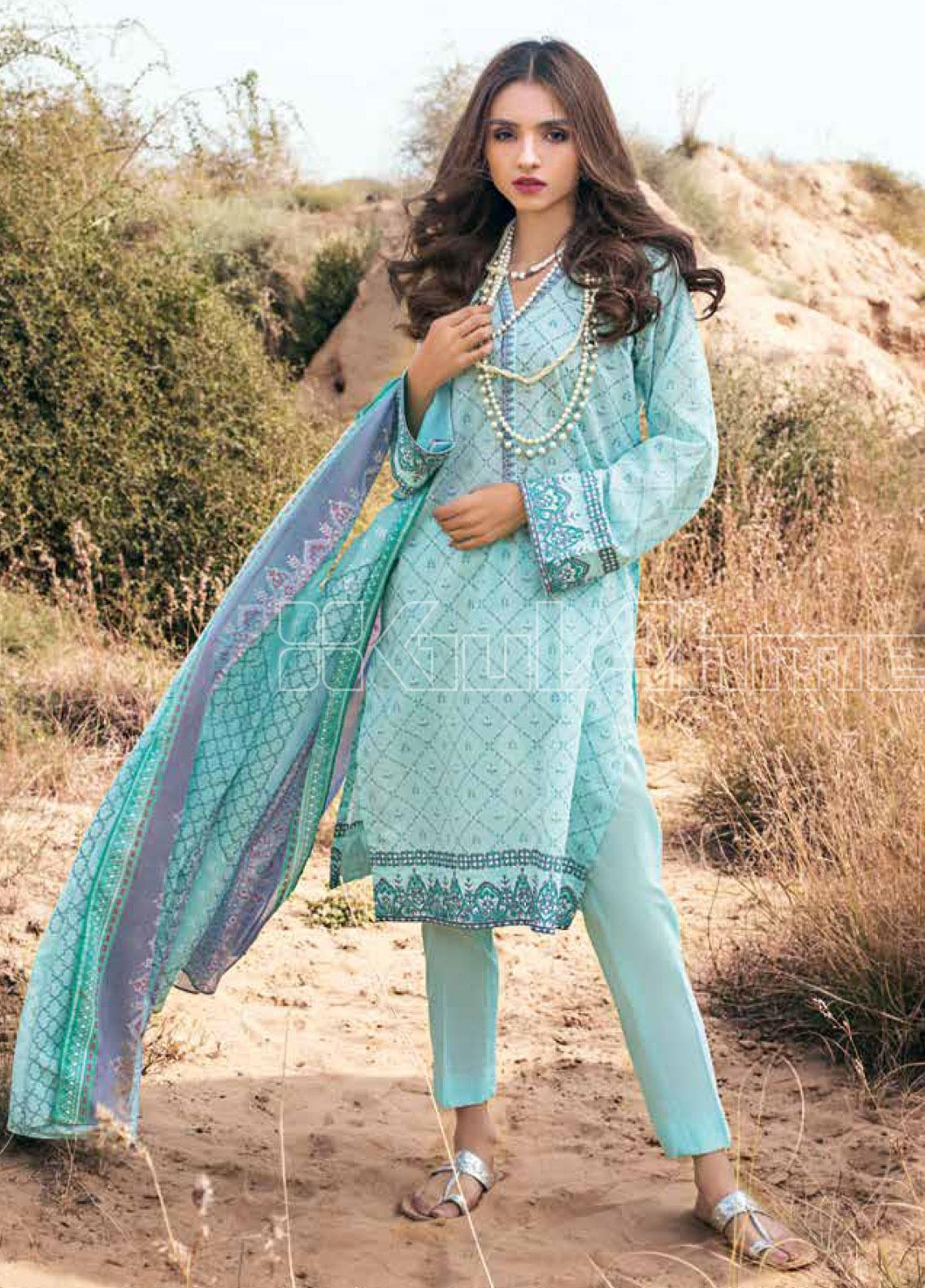 Gul Ahmed Embroidered Lawn Unstitched 3 Piece Suit GA20SBL CL 855 A - Summer Collection