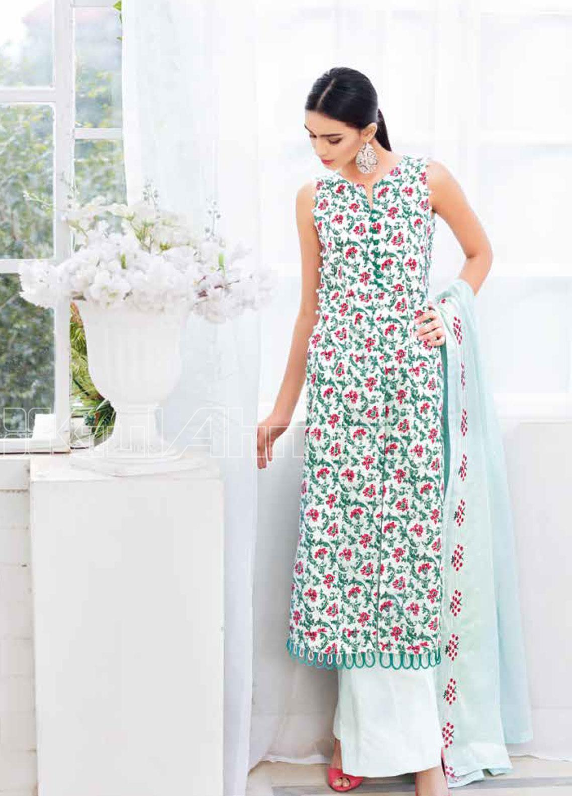 Gul Ahmed Embroidered Lawn Unstitched 3 Piece Suit GA20SBL CL 935  - Summer Collection