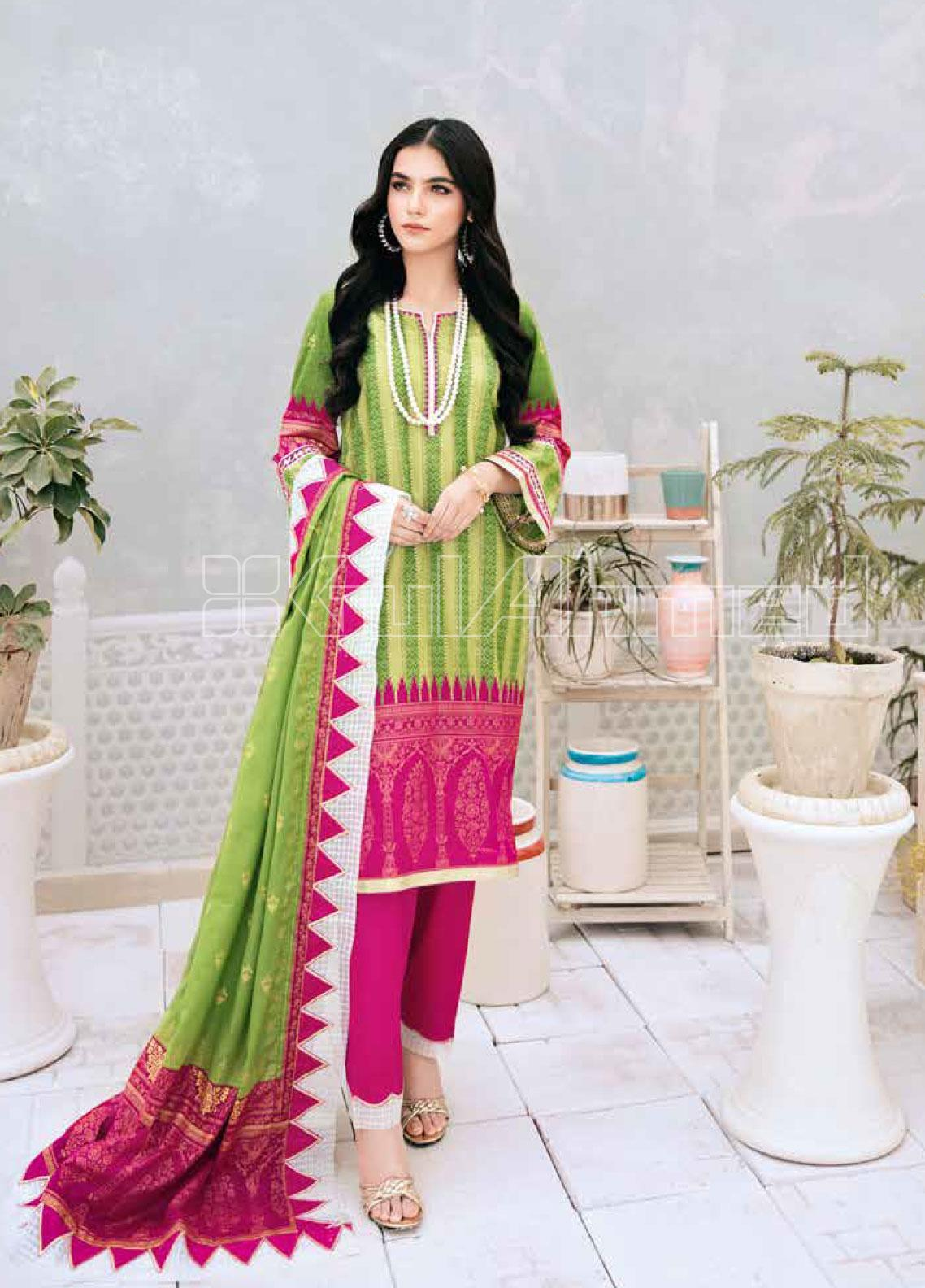 Gul Ahmed Printed Lawn Unstitched 3 Piece Suit GA20SBL CL 751 - Summer Collection