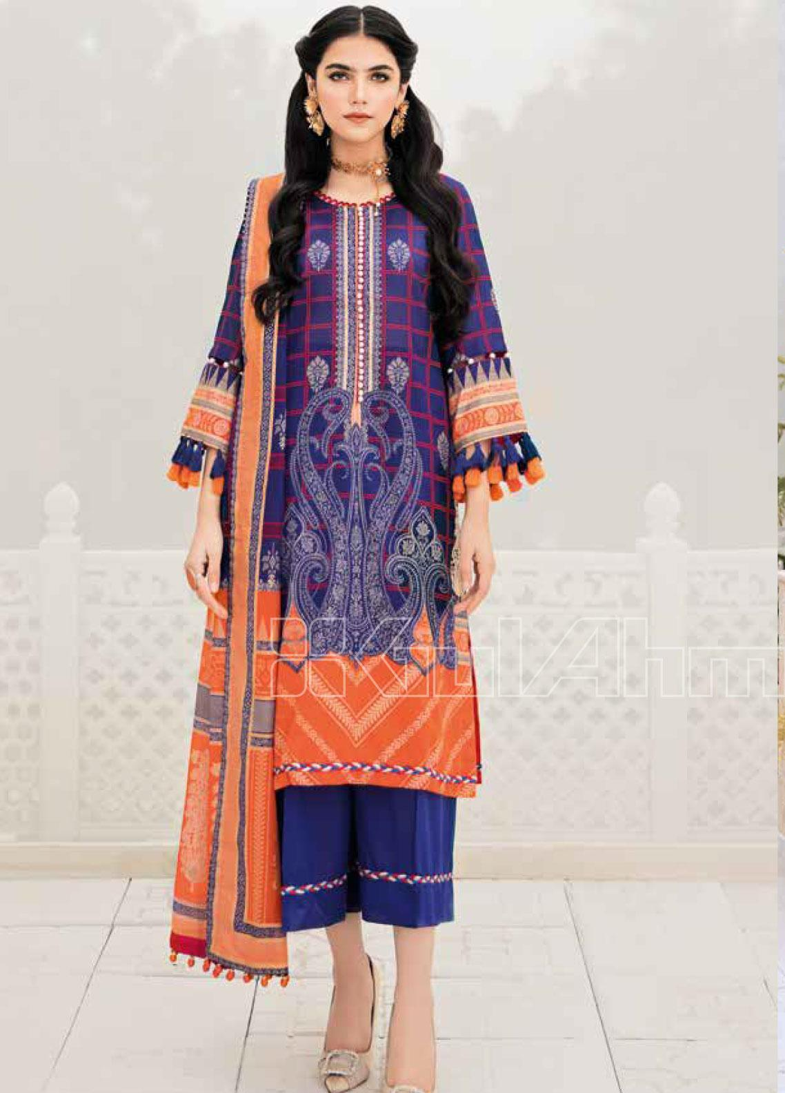 Gul Ahmed Printed Lawn Unstitched 3 Piece Suit GA20SBL CL 752 - Summer Collection