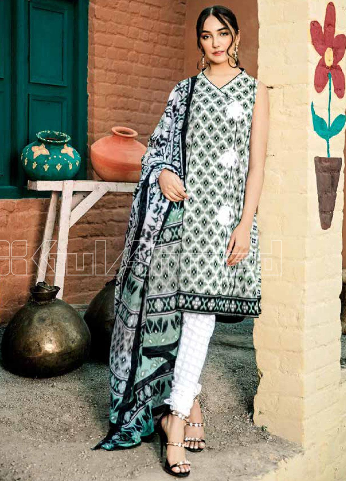 Gul Ahmed Printed Lawn Unstitched 3 Piece Suit GA20SBL CL 775 B - Summer Collection