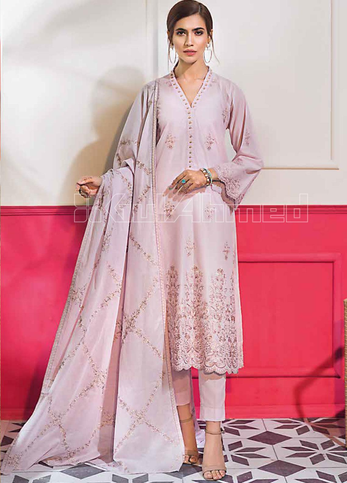 Gul Ahmed Embroidered Lawn Unstitched 3 Piece Suit GA20SBL CL 789  - Summer Collection