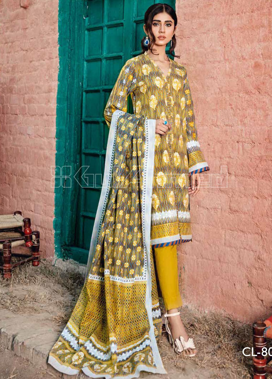 Gul Ahmed Printed Lawn Unstitched 3 Piece Suit GA20SBL CL 803 A - Summer Collection