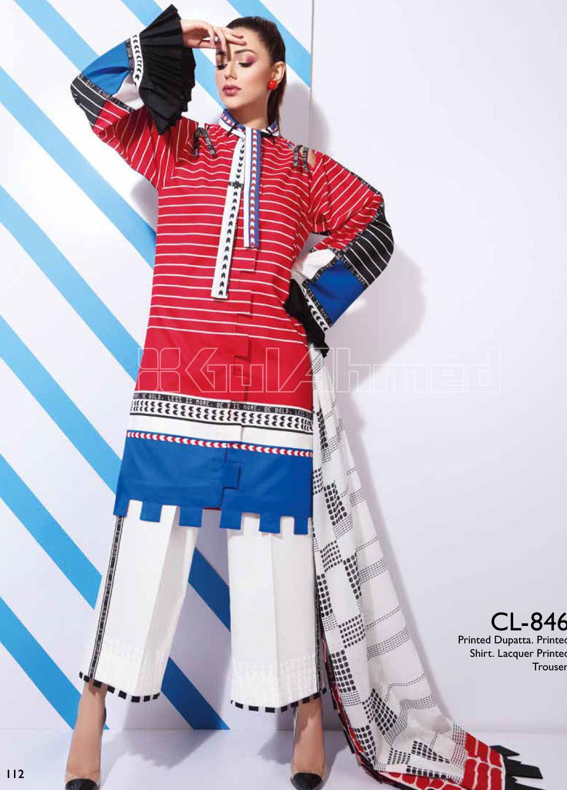 Gul Ahmed Printed Lawn Unstitched 3 Piece Suit GA20SBL CL 846 - Summer Collection