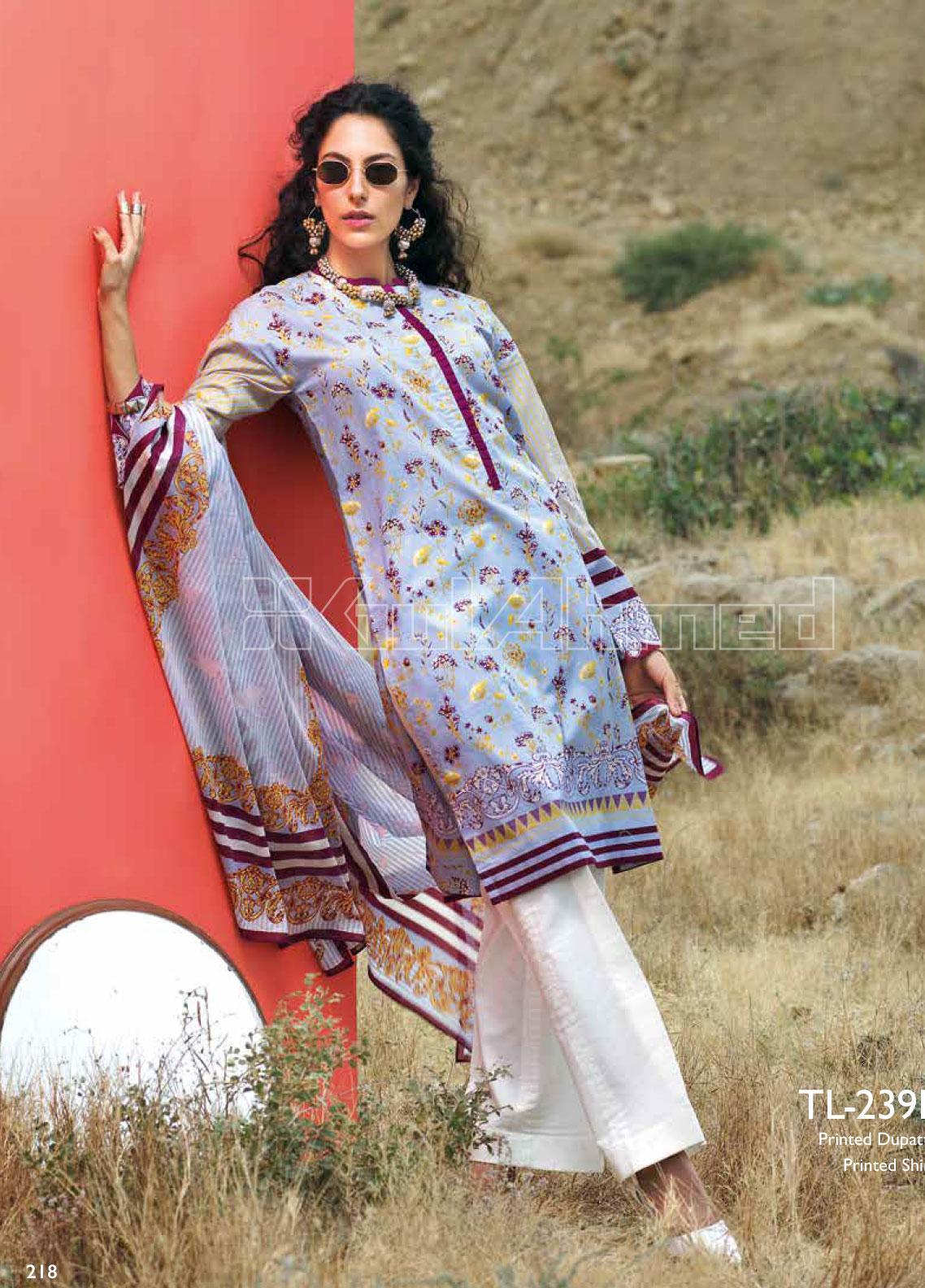 Gul Ahmed Printed Lawn Unstitched 2 Piece Suit GA20SBL TL 239B - Summer Collection