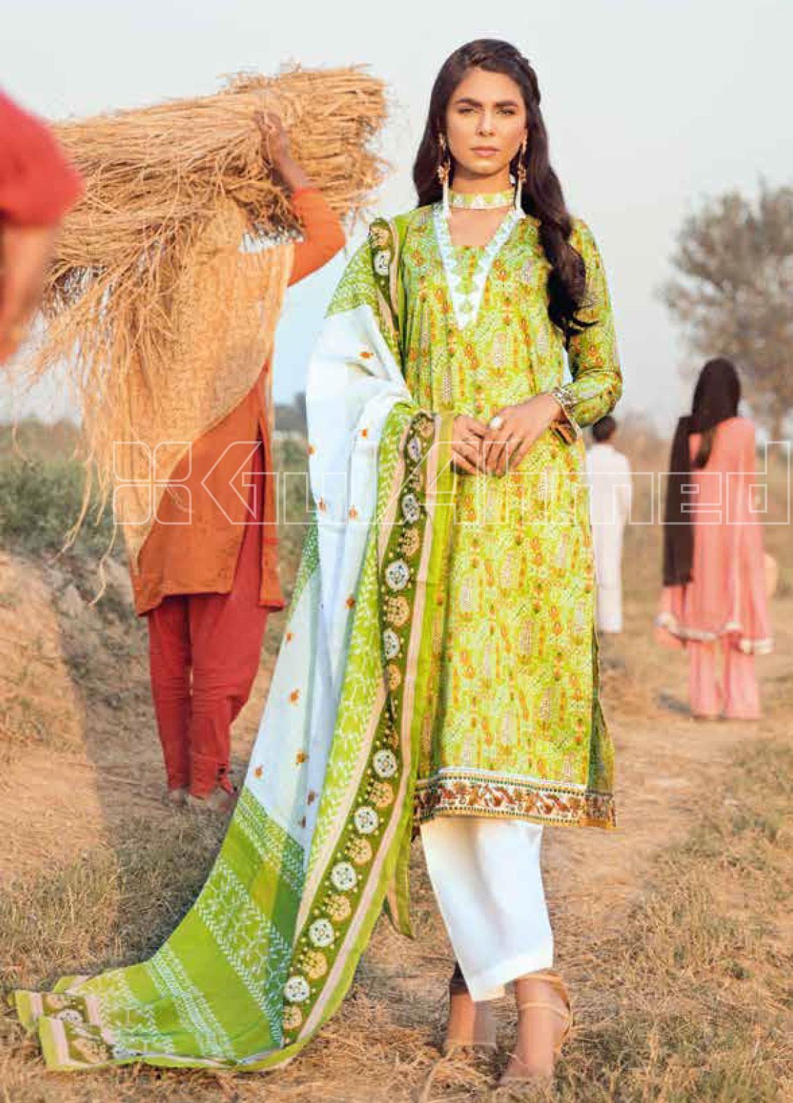 Gul Ahmed Embroidered Lawn Unstitched 2 Piece Suit GA20SBL TL 247A - Summer Collection