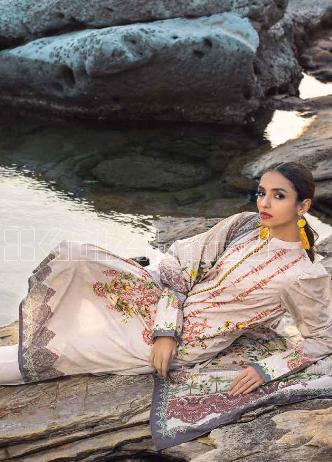 Gul Ahmed Printed Lawn Unstitched 2 Piece Suit GA20SBL TL 255 - Summer Collection