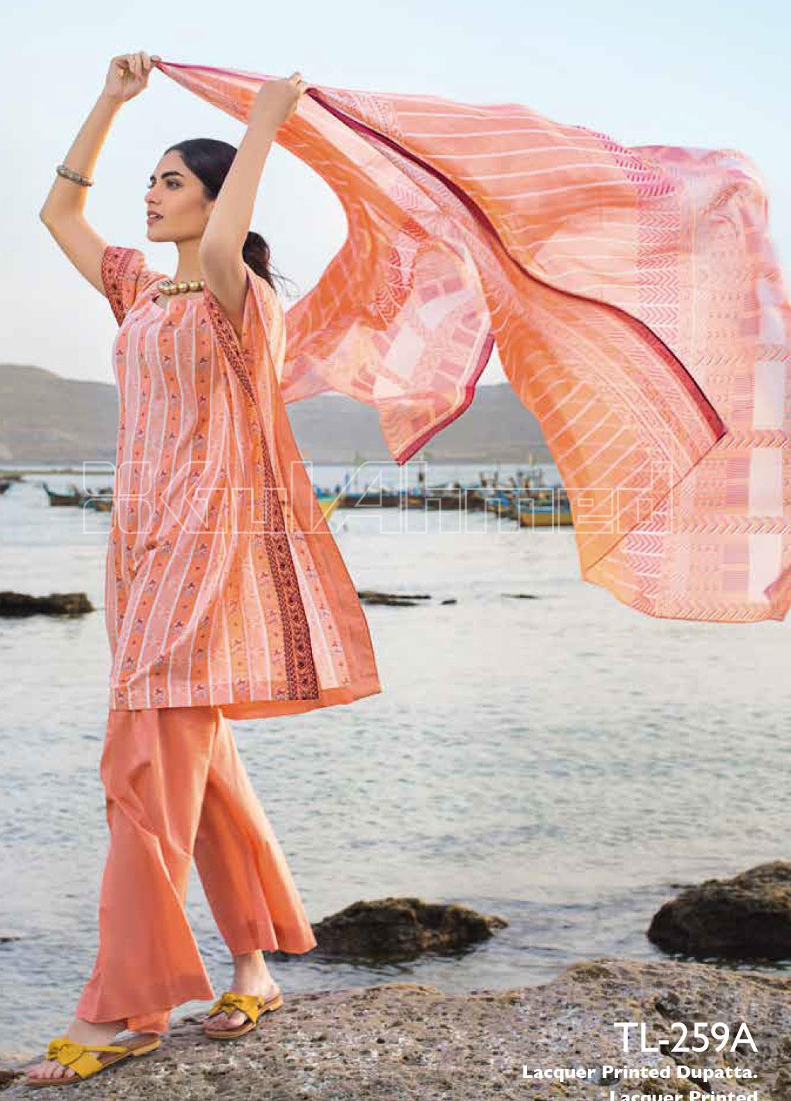 Gul Ahmed Embroidered Lawn Unstitched 2 Piece Suit GA20SBL TL 259A - Summer Collection
