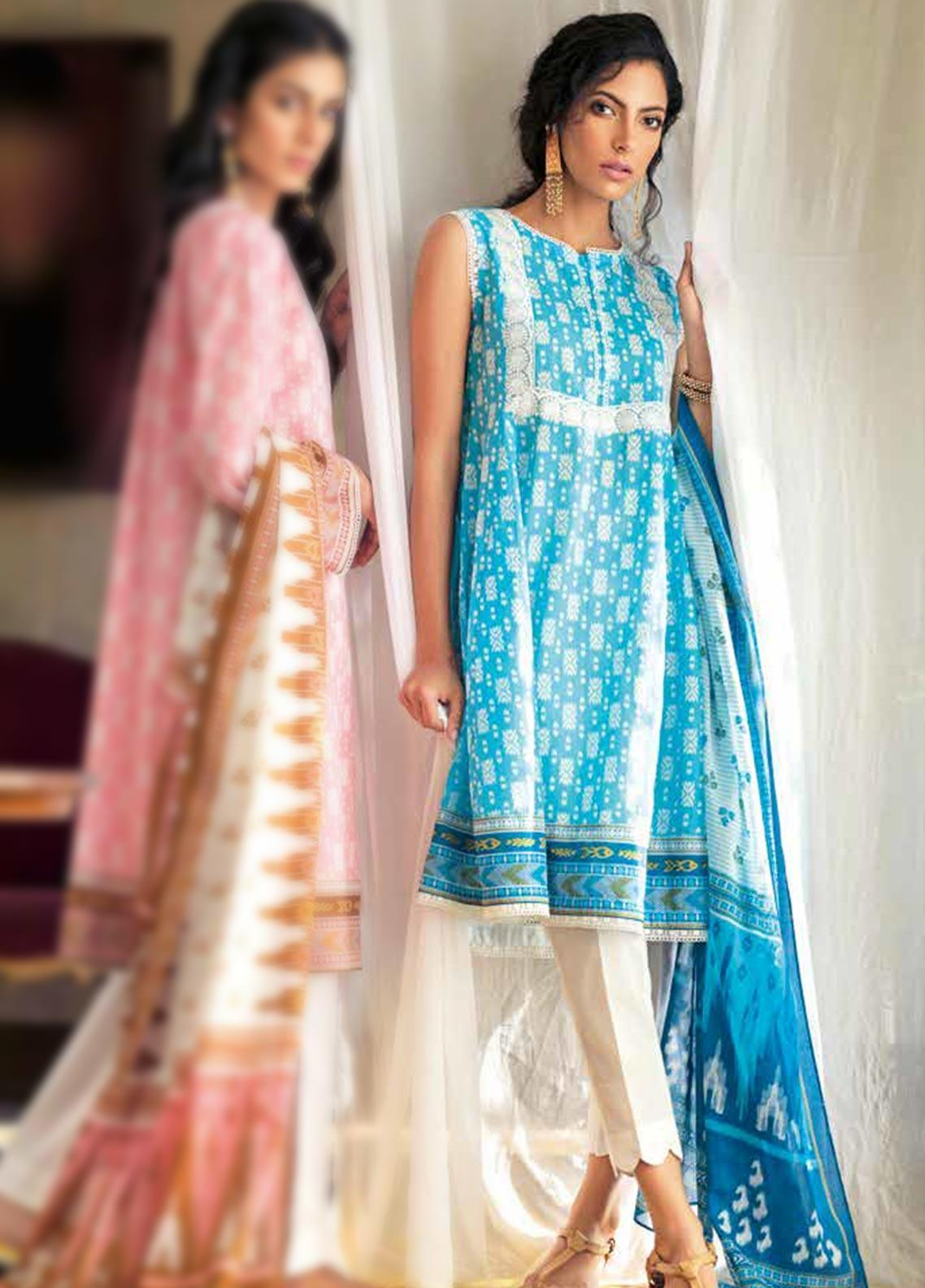 Gul Ahmed Embroidered Lawn Unstitched 2 Piece Suit GA20SBL TL 261B - Summer Collection