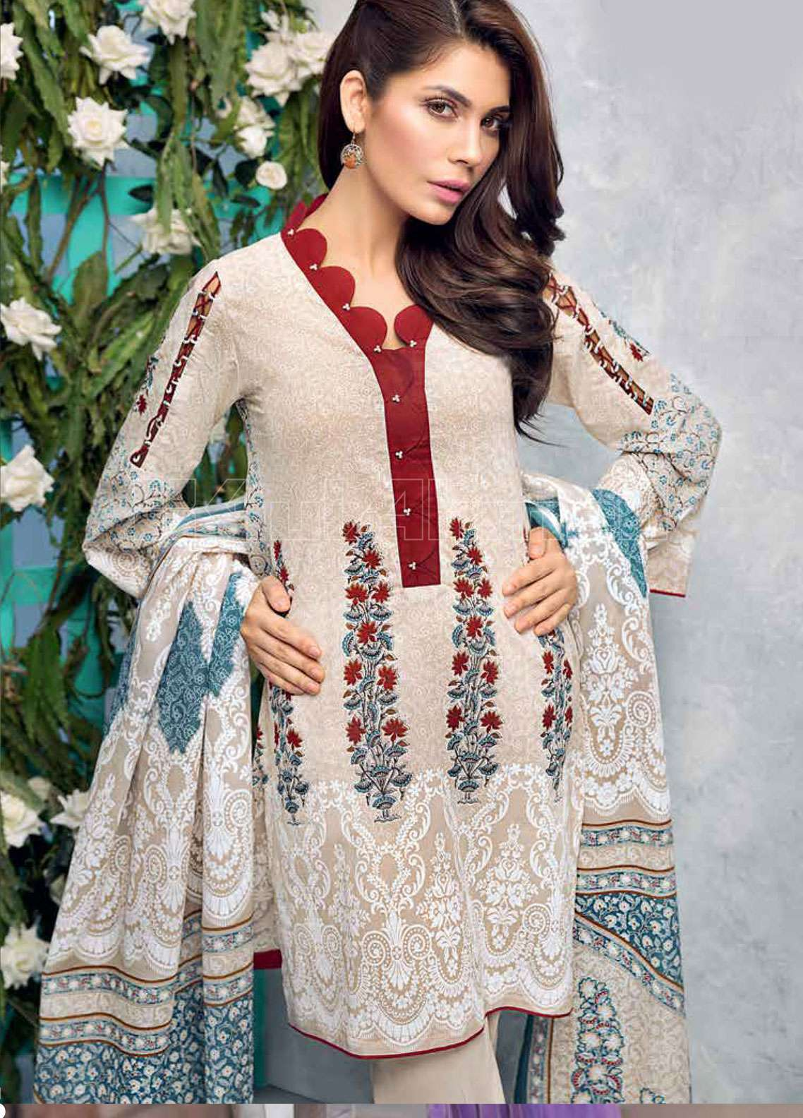 df58c73032 Gul Ahmed Printed Lawn Unstitched 3 Piece Suit GAE19L CL-421 B - Spring /  Summer Collection