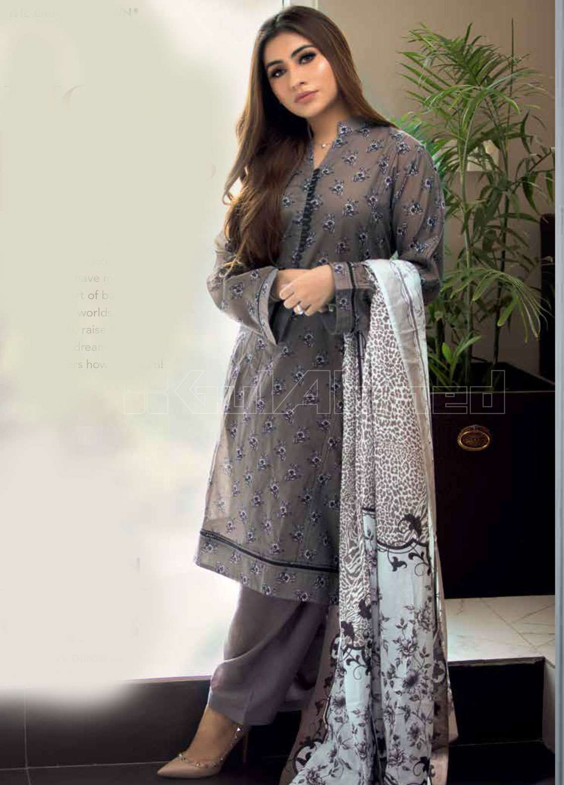 32fcdcedbb Gul Ahmed Printed Lawn Unstitched 3 Piece Suit GAE19L CL-457 B - Spring /  Summer Collection