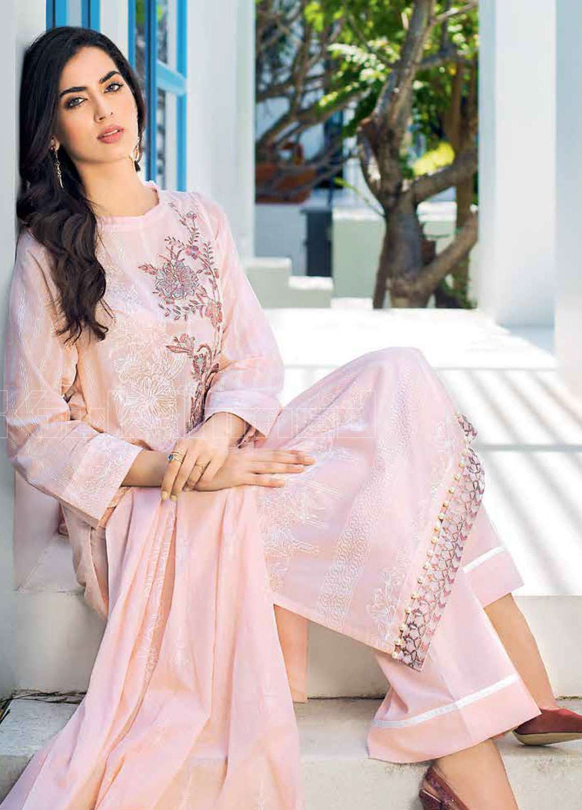 14b61b9abf Gul Ahmed Embroidered Lawn Unstitched 3 Piece Suit GAE19L CL-527 A - Spring  / Summer Collection