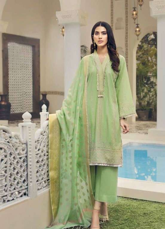 Gul Ahmed Embroidered Swiss Voile Unstitched 3 Piece Suit GAP19L LSV-05 - Spring / Summer Collection