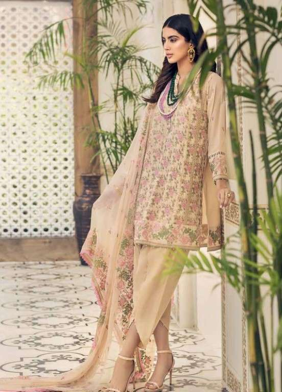 Gul Ahmed Embroidered Swiss Voile Unstitched 3 Piece Suit GAP19L LSV-06 - Spring / Summer Collection