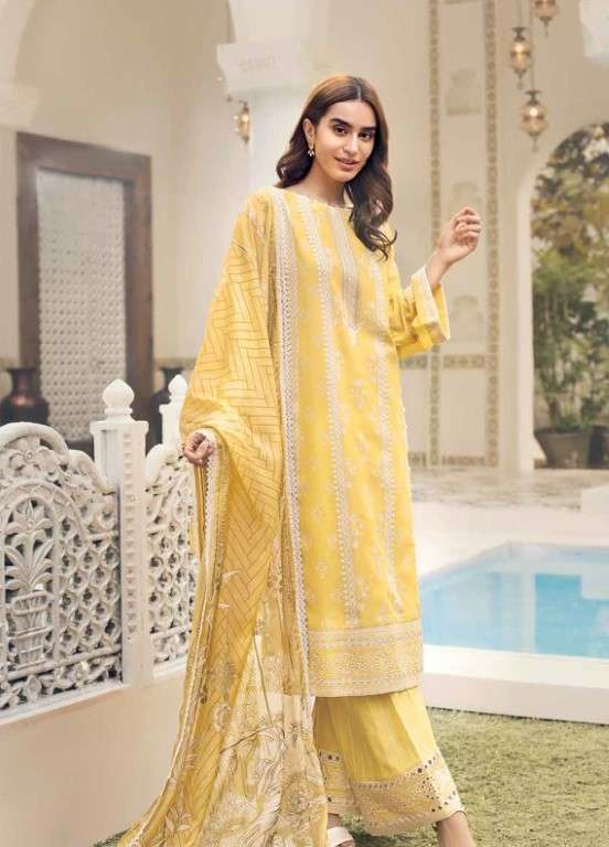 Gul Ahmed Embroidered Swiss Voile Unstitched 3 Piece Suit GAP19L LSV-08 - Spring / Summer Collection