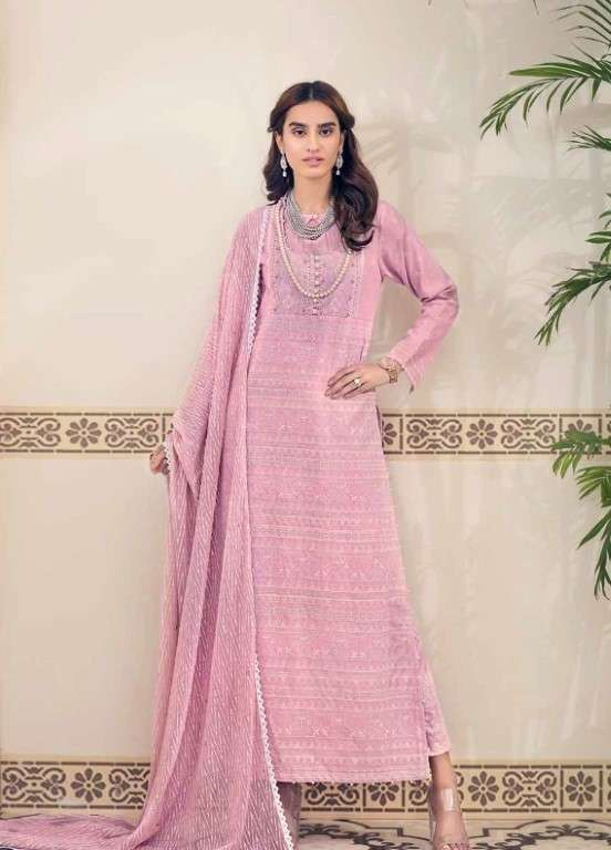 Gul Ahmed Embroidered Swiss Voile Unstitched 3 Piece Suit GAP19L LSV-09 - Spring / Summer Collection