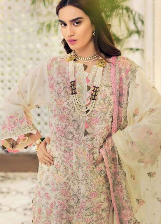 Gul Ahmed Embroidered Swiss Voile Unstitched 3 Piece Suit GAP19L LSV-11 - Spring / Summer Collection