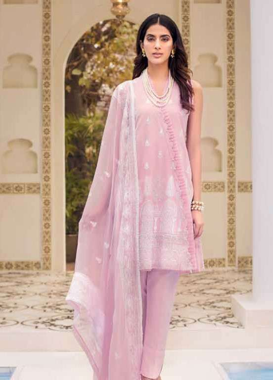 Gul Ahmed Embroidered Swiss Voile Unstitched 3 Piece Suit GAP19L LSV-12 - Spring / Summer Collection