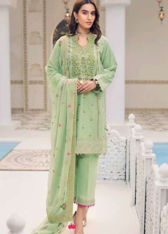 Gul Ahmed Embroidered Swiss Voile Unstitched 3 Piece Suit GAP19L LSV-13 - Spring / Summer Collection