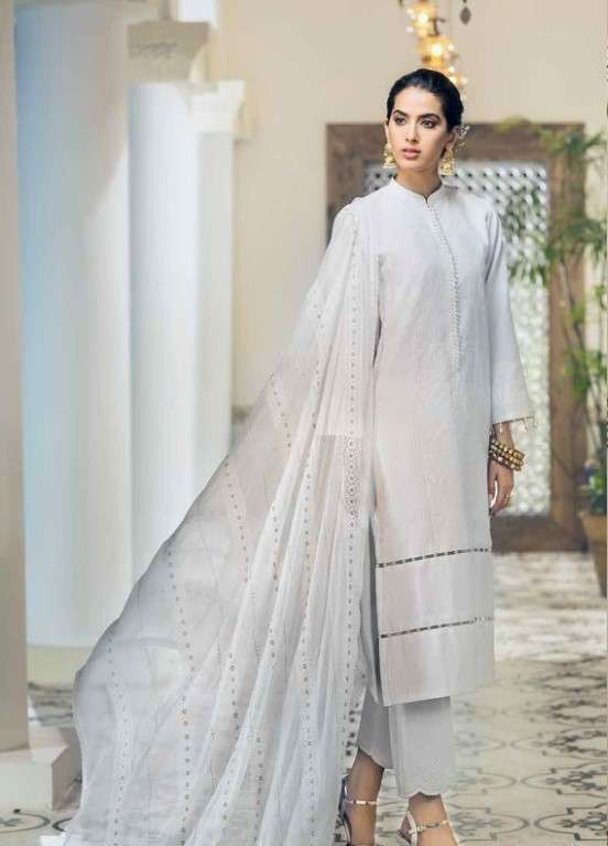 Gul Ahmed Embroidered Swiss Voile Unstitched 3 Piece Suit GAP19L LSV-14 - Spring / Summer Collection