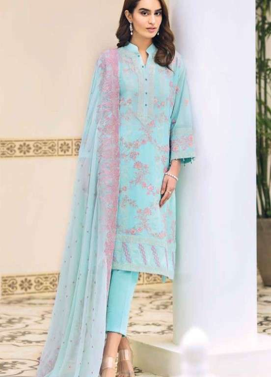 Gul Ahmed Embroidered Swiss Voile Unstitched 3 Piece Suit GAP19L LSV-16 - Spring / Summer Collection
