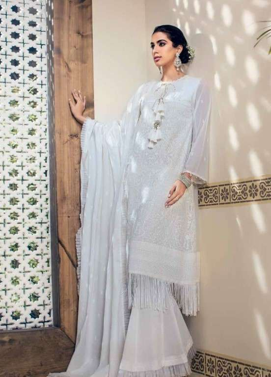 Gul Ahmed Embroidered Swiss Voile Unstitched 3 Piece Suit GAP19L LSV-17 - Spring / Summer Collection