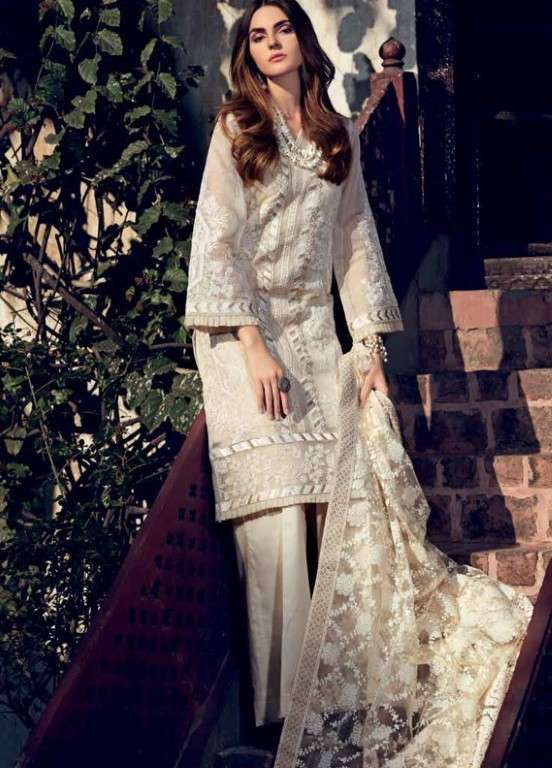 Gul Ahmed Embroidered Missouri Unstitched 3 Piece Suit GAP19L PM-255 - Spring / Summer Collection