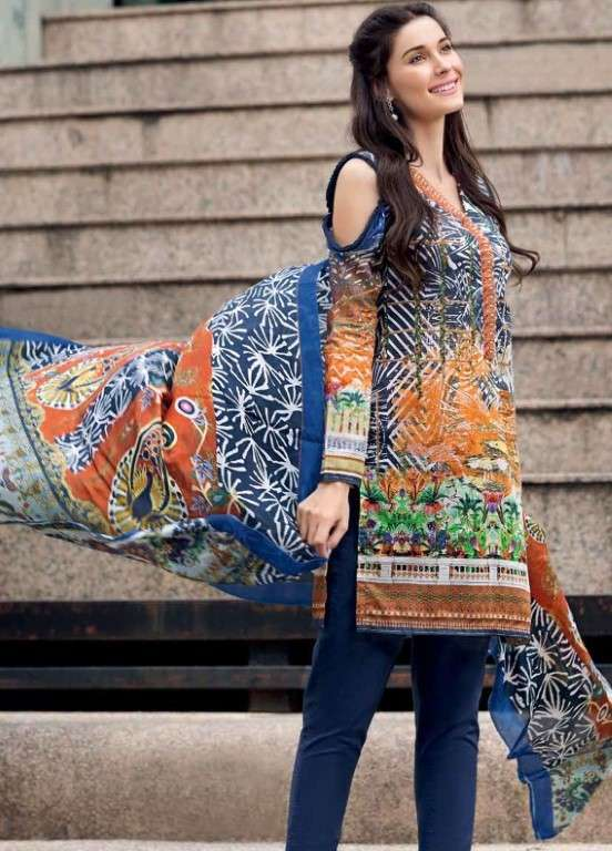 11c8721304 Gul Ahmed Embroidered Lawn Unstitched 3 Piece Suit GAP19L SS-169 - Spring /  Summer