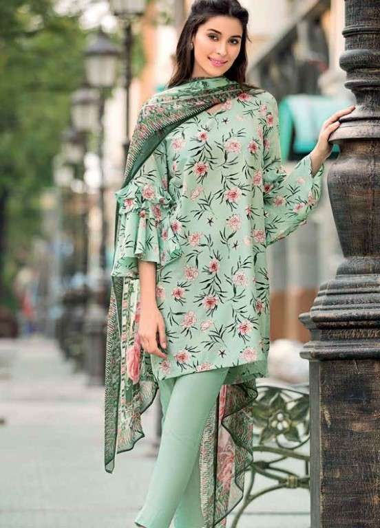 494738880d Gul Ahmed Printed Silk Unstitched 3 Piece Suit GAP19L SY-23 - Spring / Summer  Collection