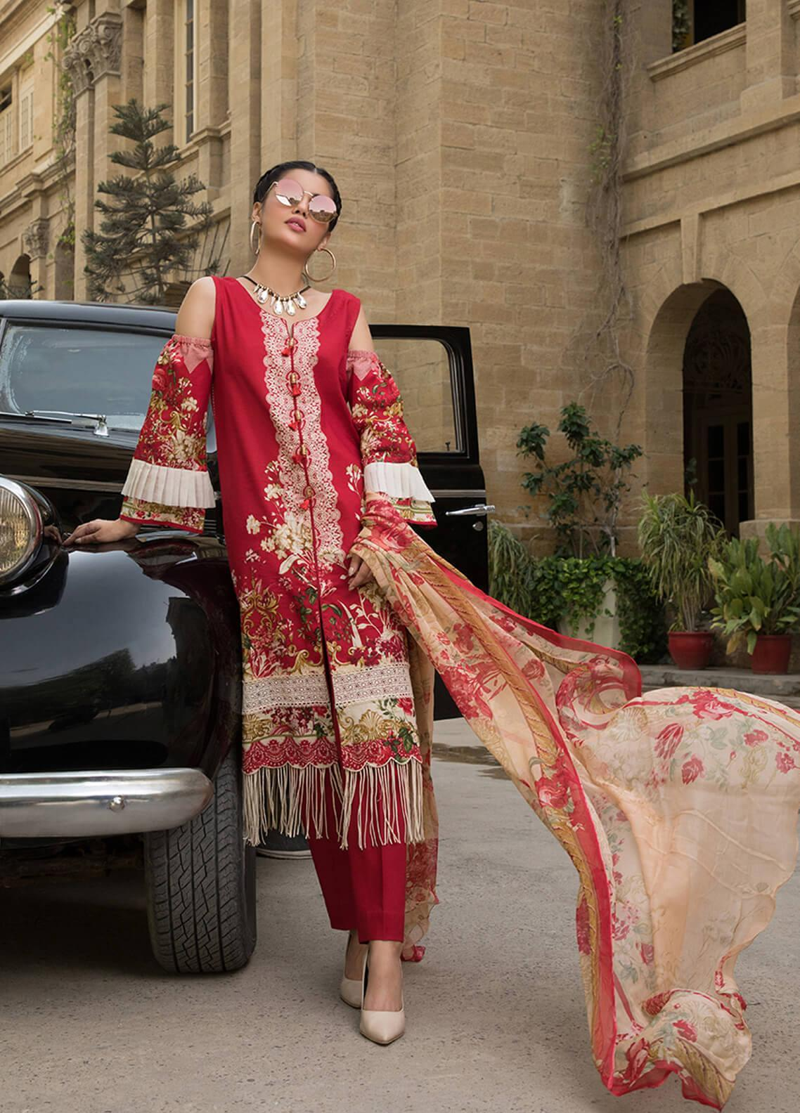 Gul Mohar Printed Lawn Unstitched 3 Piece Suit GM19L 1A - Festive Collection