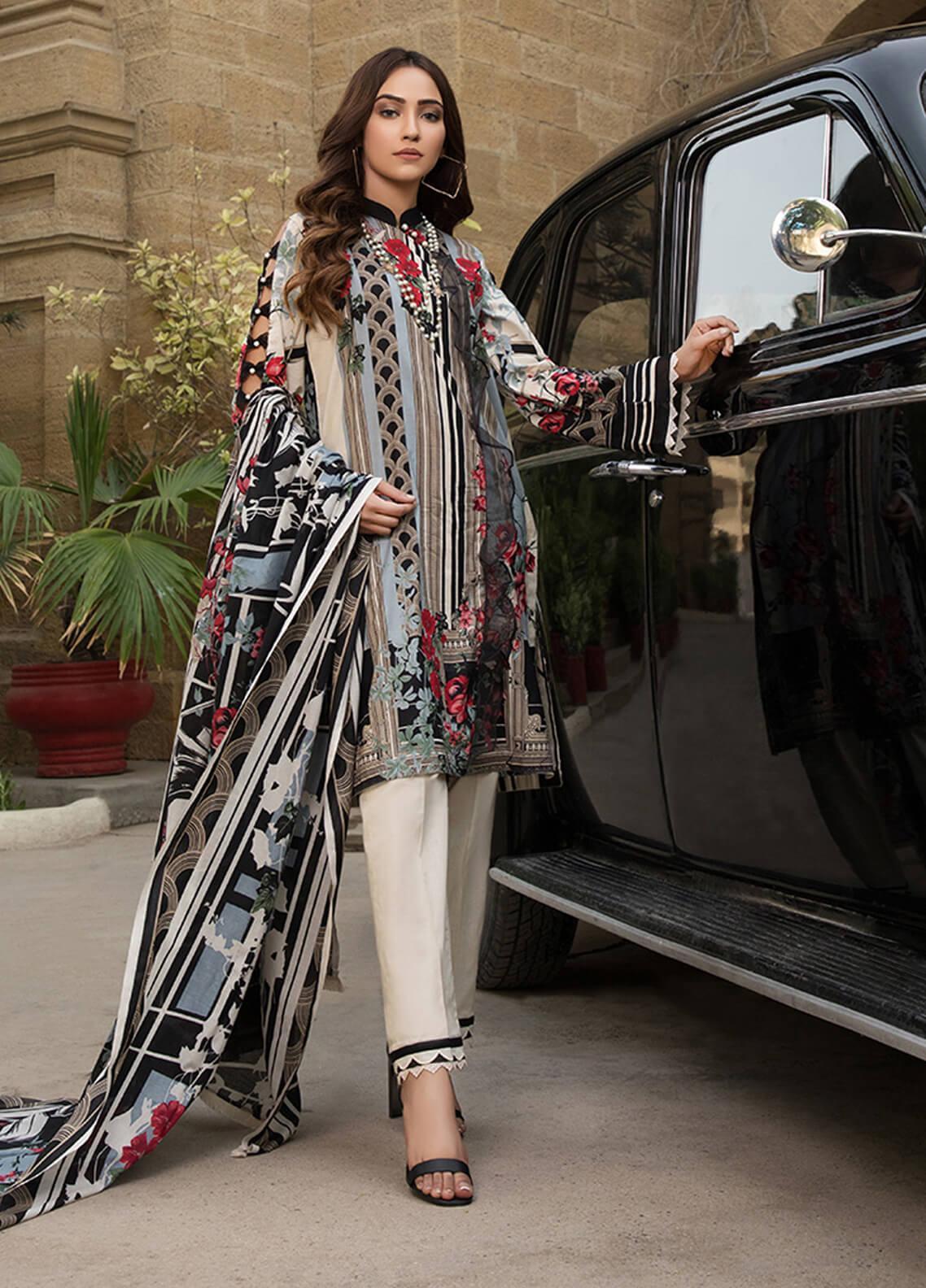 Gul Mohar Printed Lawn Unstitched 3 Piece Suit GM19L 3A - Festive Collection