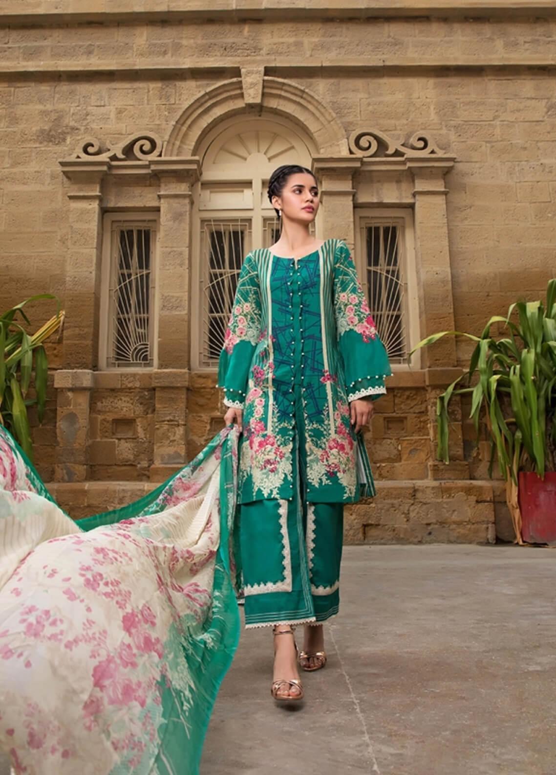 Gul Mohar Printed Lawn Unstitched 3 Piece Suit GM19L 5B - Festive Collection