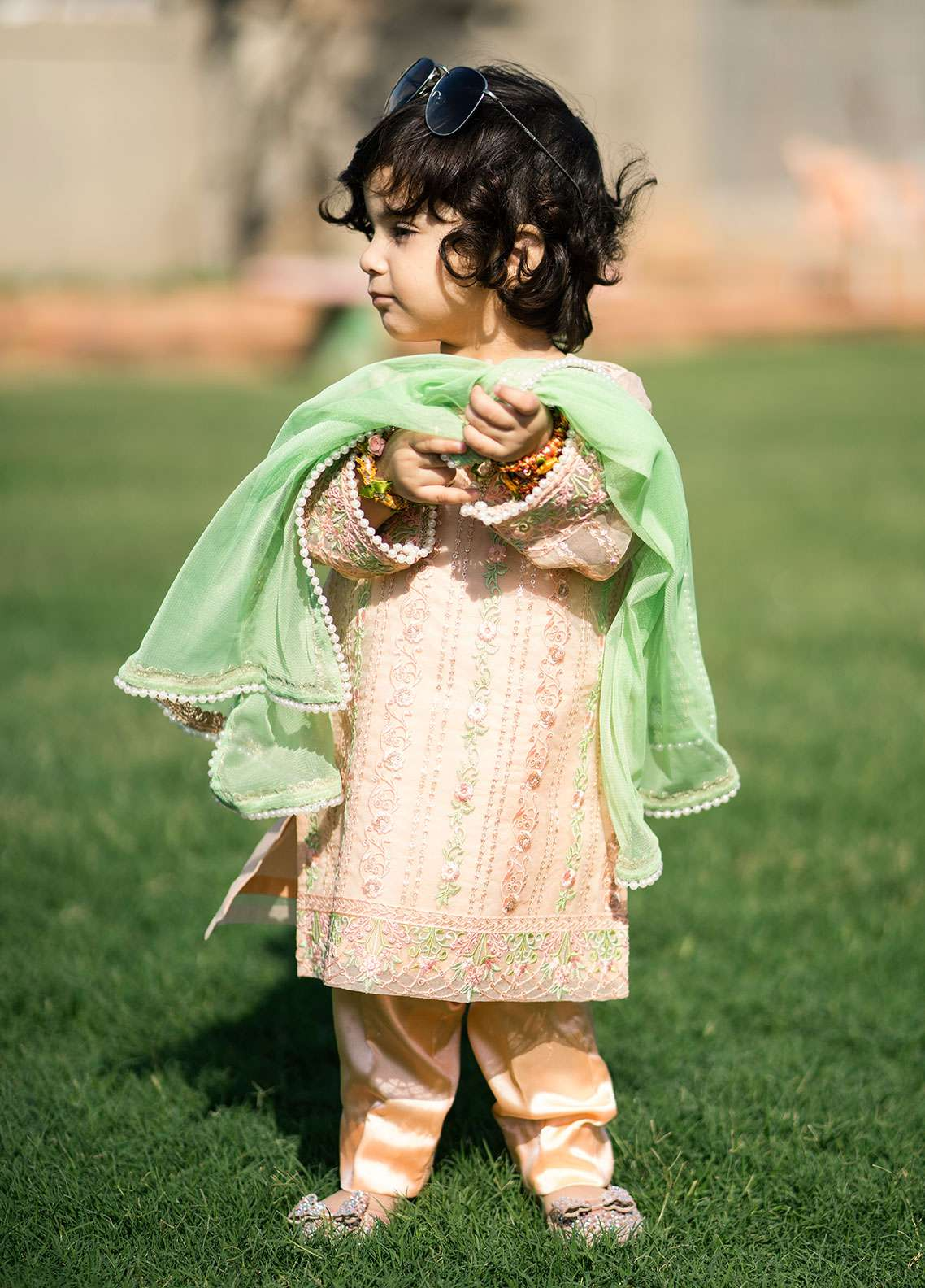 Gulaal Chiffon Embroidered 3 Piece Suit for Girls - Pink KD-03
