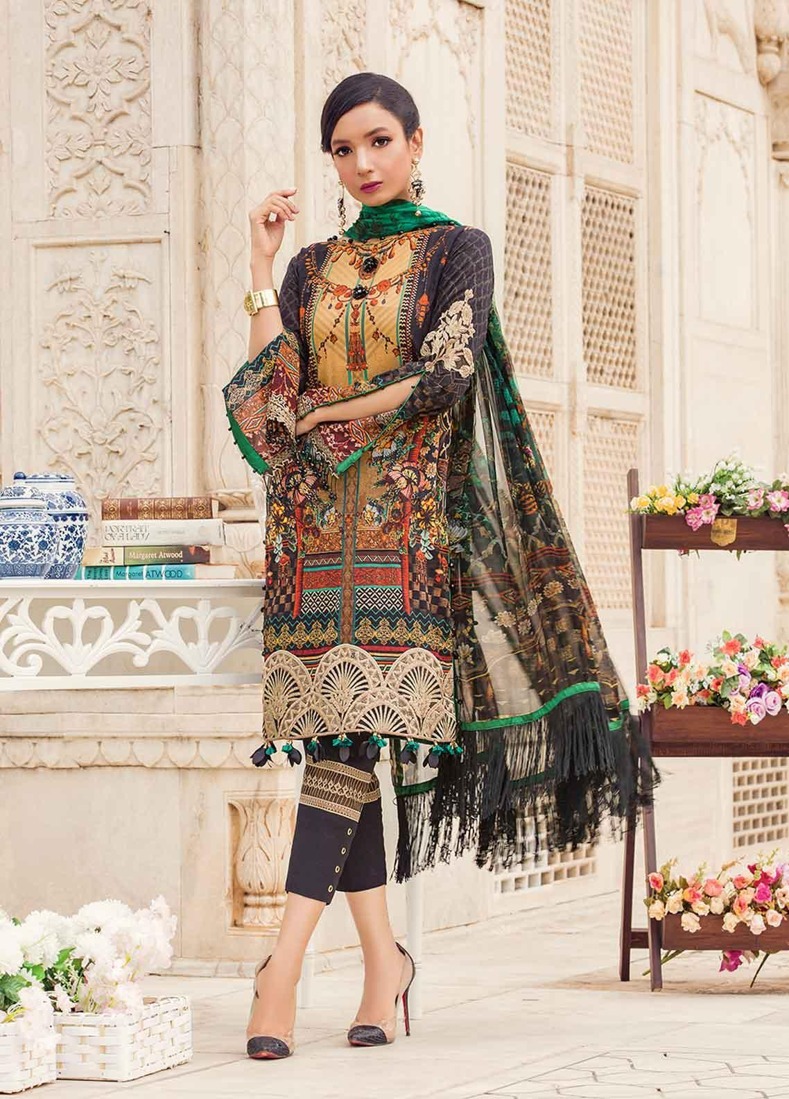 73c572bcab Gulaal Embroidered Organza Stitched Kurtis SK-03 Black. PKR 4,500.00. Gulaal  Embroidered Lawn Unstitched 3 Piece Suit GL19-L2 02 ROYAL GRANDEUR - Mid  Summer