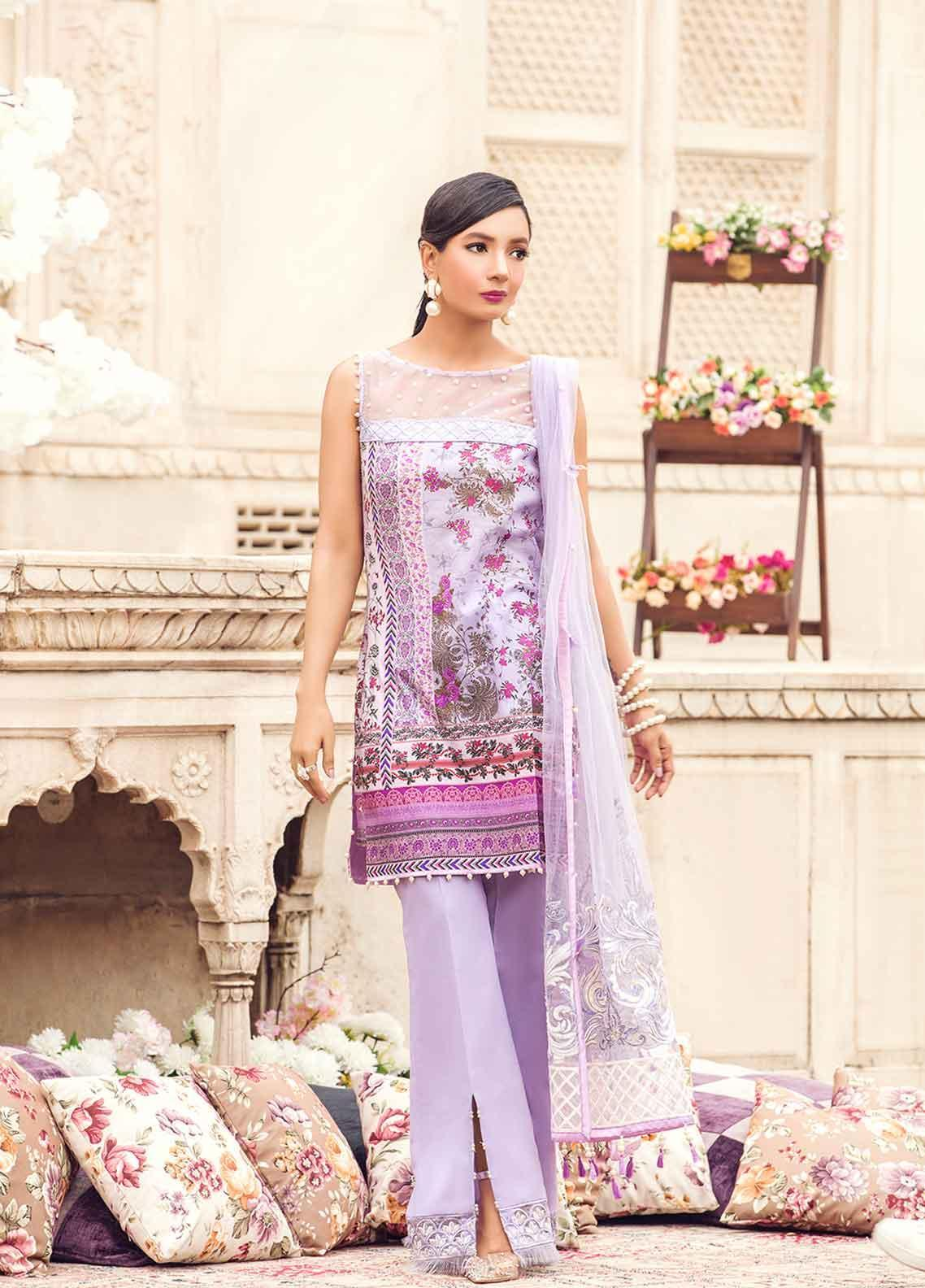 Gulaal Embroidered Lawn Unstitched 3 Piece Suit GL19-L2 03 PEARLESUQE - Mid Summer Collection