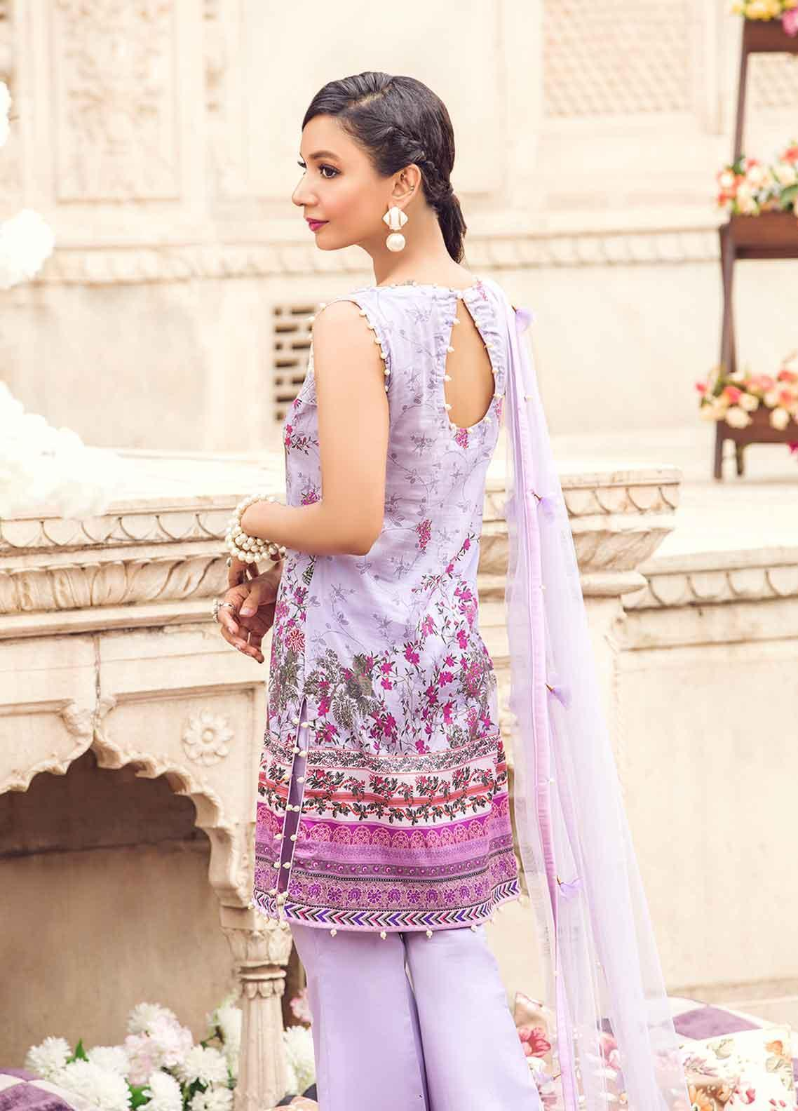 acfbb4cca3 Gulaal Embroidered Lawn Unstitched 3 Piece Suit GL19-L2 03 PEARLESUQE - Mid  Summer Collection
