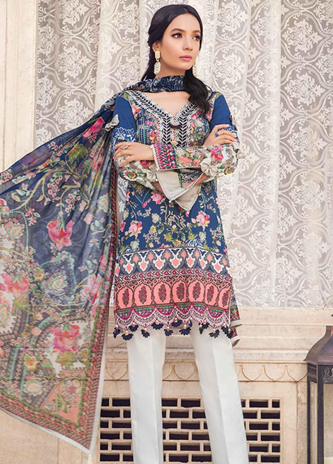 a90dc43c1d Gulaal Embroidered Lawn Unstitched 3 Piece Suit GL19-L2 04 MYSTICAL BLOOM -  Mid Summer