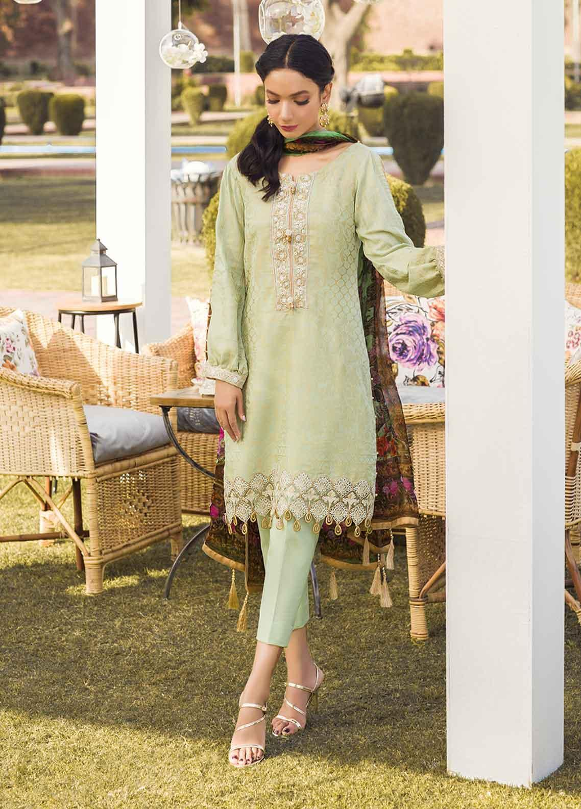 Gulaal Embroidered Lawn Unstitched 3 Piece Suit GL19-L2 06 GOLD RUSH - Mid Summer Collection