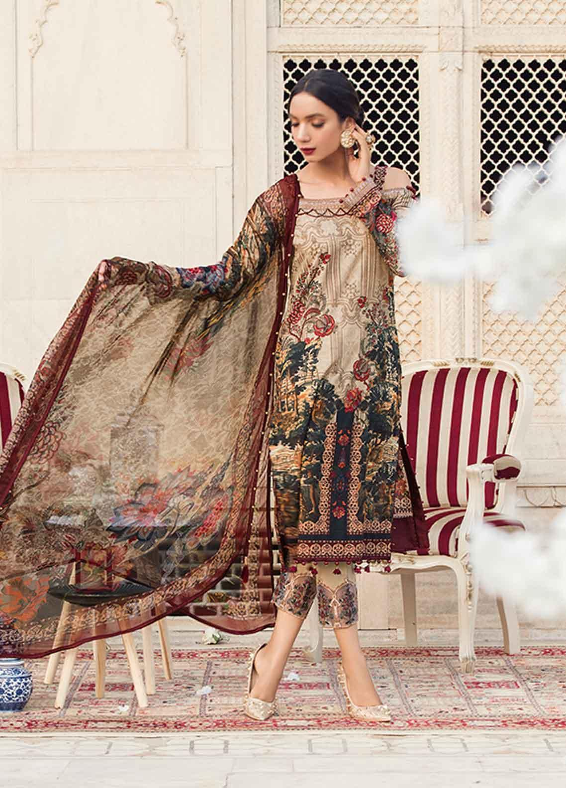 Gulaal Embroidered Lawn Unstitched 3 Piece Suit GL19-L2 09 BOSQUE - Mid Summer Collection