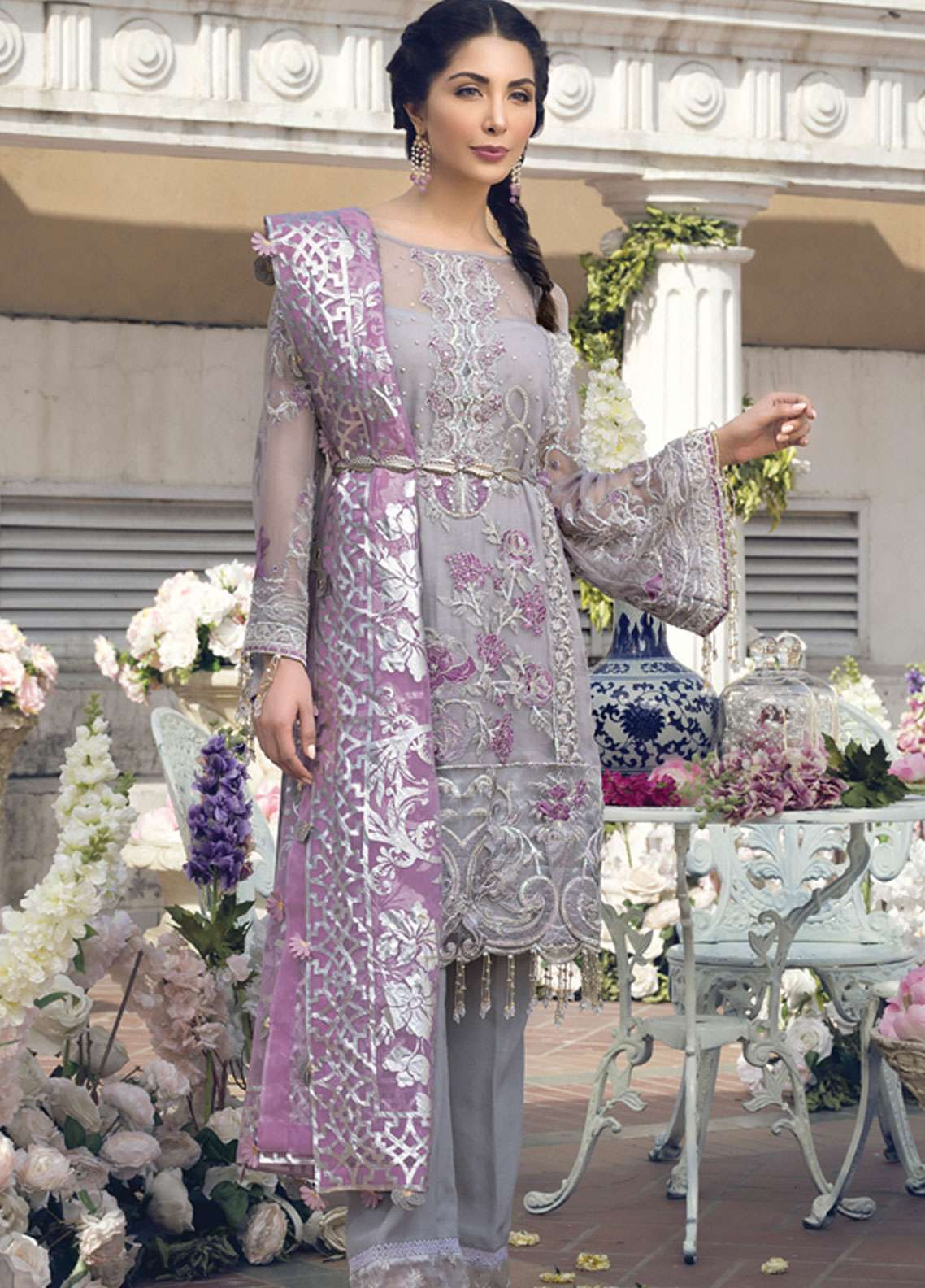 Premium Embroidered Chiffon Eid Dresses By Gulaal