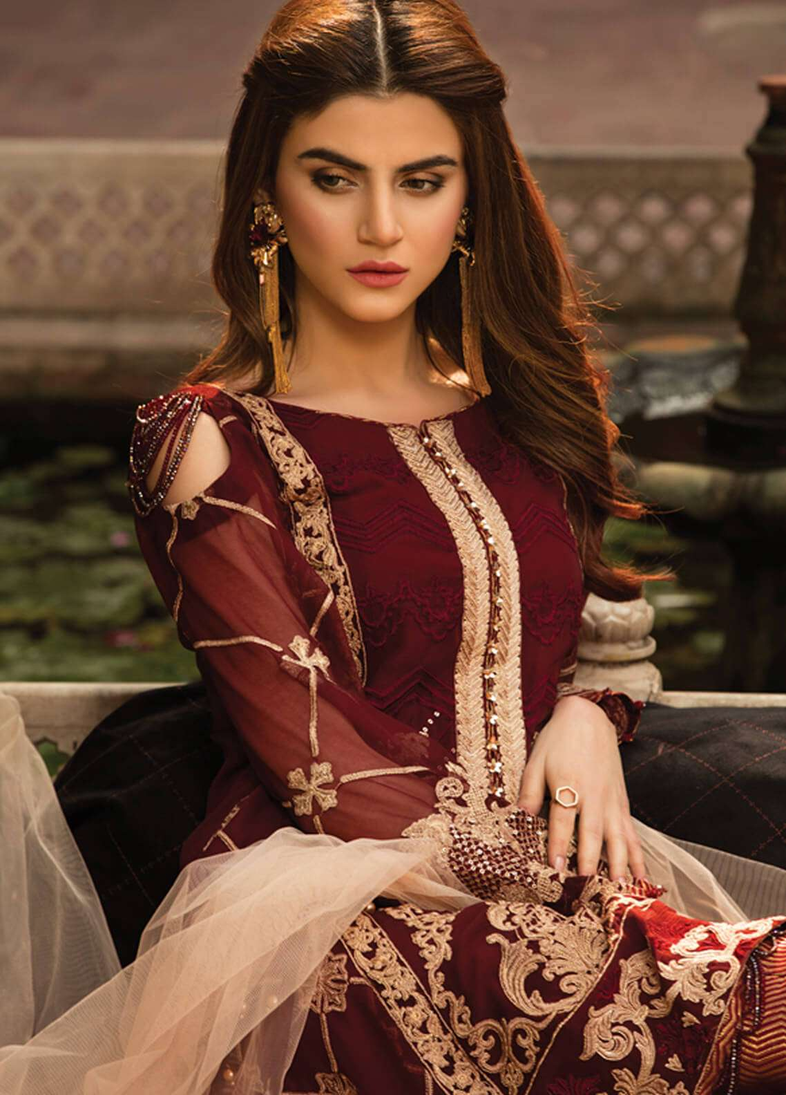 a836ec3c39d9 Gulaal Embroidered Chiffon Unstitched 3 Piece Suit GL18-W2 02 - Wedding  Collection