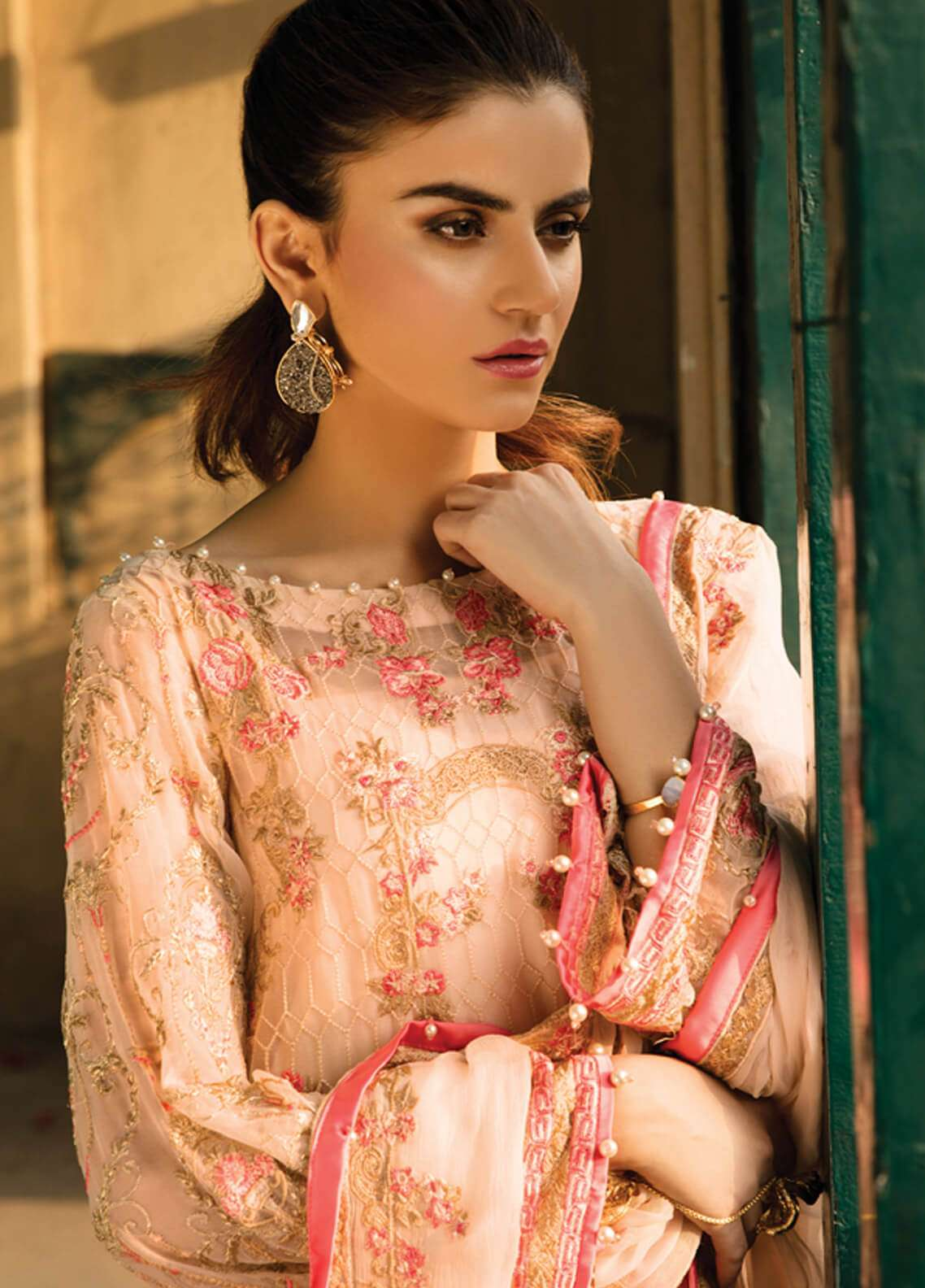 Gulaal Embroidered Chiffon Unstitched 3 Piece Suit GL18-W2 05 - Wedding Collection