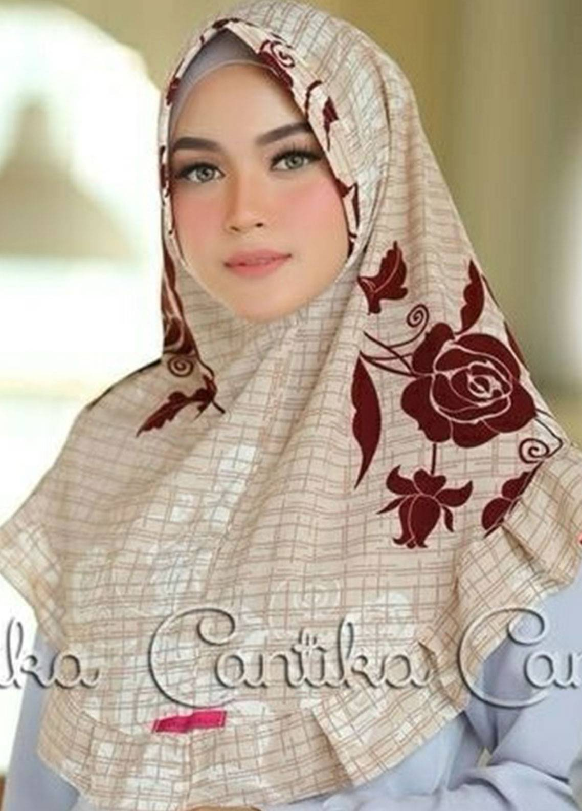 Cantika Bubble Pop Ladies Scarves HH Can 02 Cream