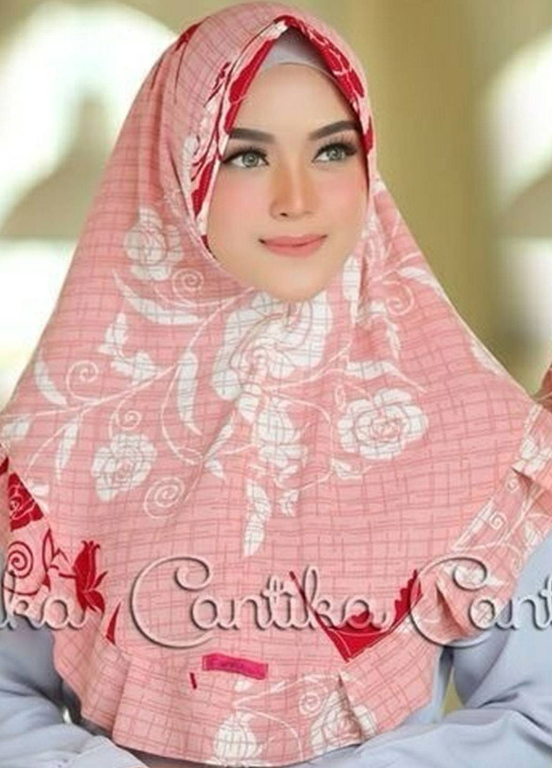 Cantika Bubble Pop Ladies Scarves HH Can 03 Baby Pink