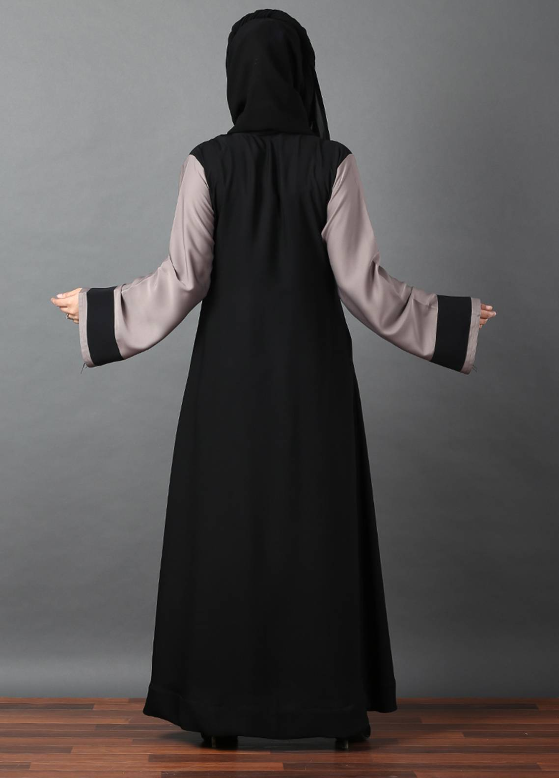 179321421567 Hijab ul Hareem Front Open Style Stitched Abaya 0116-R-A370. Online only