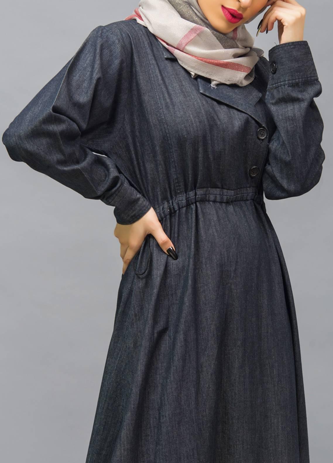 Hijab ul Hareem Front Open Style Stitched Abaya 0119-R-986