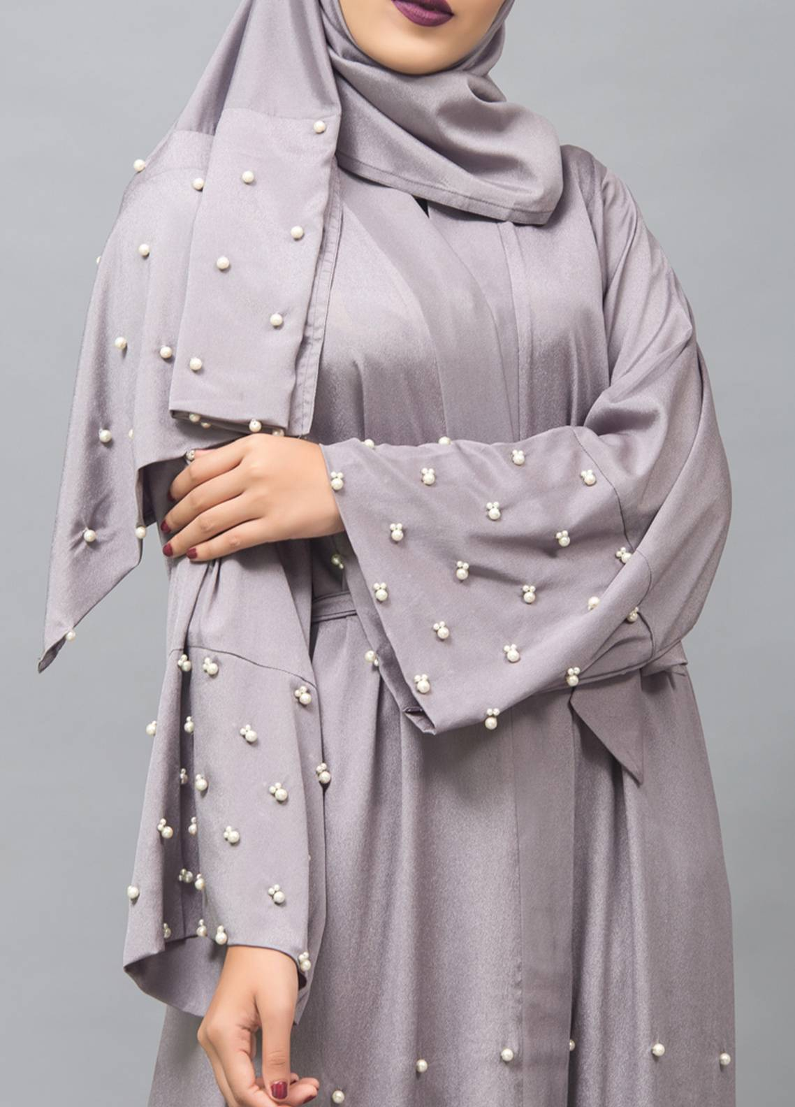 Hijab ul Hareem Front Open Style Stitched Abaya 0116-J-999